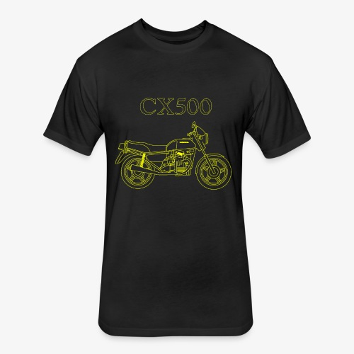 CX500 line drawing - Fitted Cotton/Poly T-Shirt by Next Level