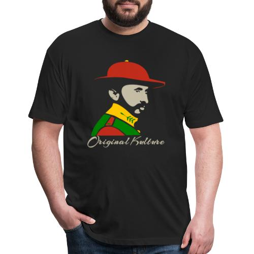 Haile Selassie Rasta Print - Fitted Cotton/Poly T-Shirt by Next Level