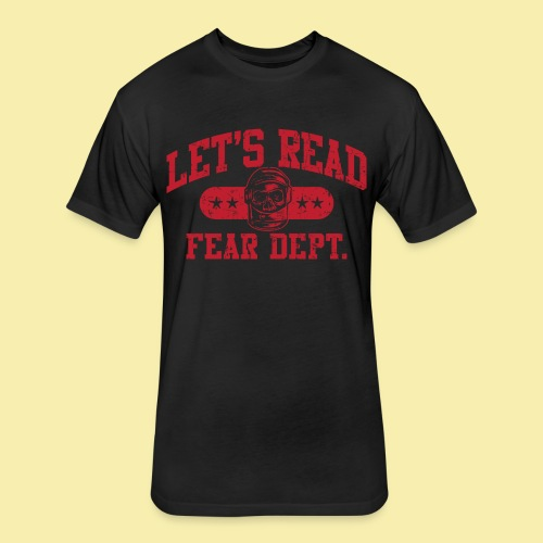 Fear Dept - Athletic Red - Inverted - Fitted Cotton/Poly T-Shirt by Next Level