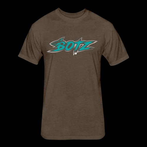 BOTZ Teal Logo - Fitted Cotton/Poly T-Shirt by Next Level