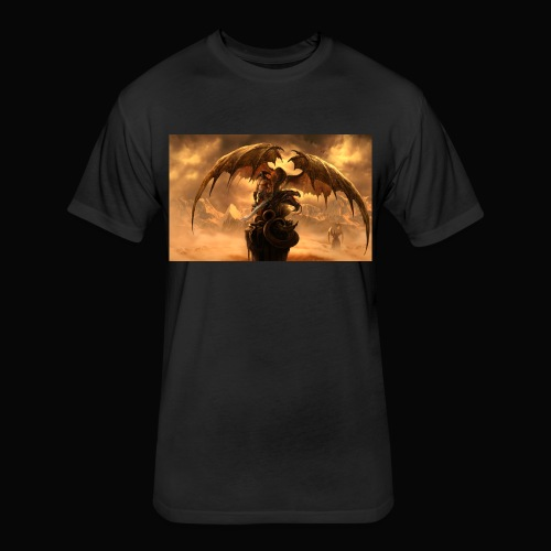 Dragon féroce - Fitted Cotton/Poly T-Shirt by Next Level