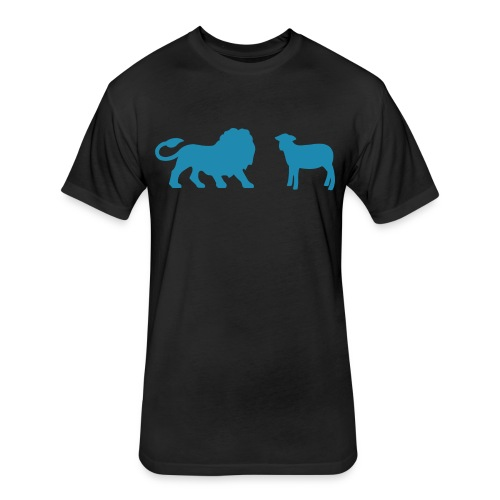 Lion and the Lamb - Fitted Cotton/Poly T-Shirt by Next Level