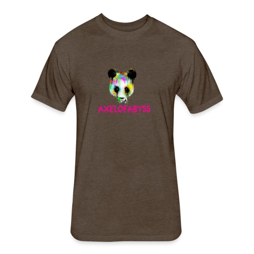 Axelofabyss panda panda paint - Fitted Cotton/Poly T-Shirt by Next Level