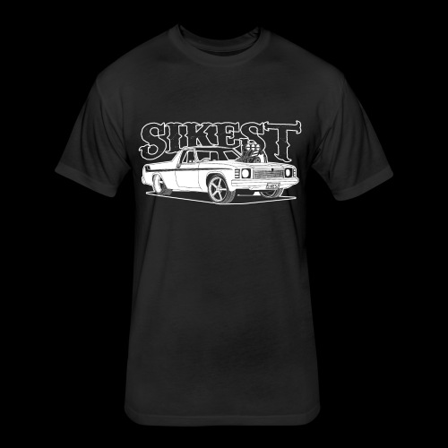 SIKEST - HJ UTE BLOWN BIG BLOCK DESIGN - Fitted Cotton/Poly T-Shirt by Next Level