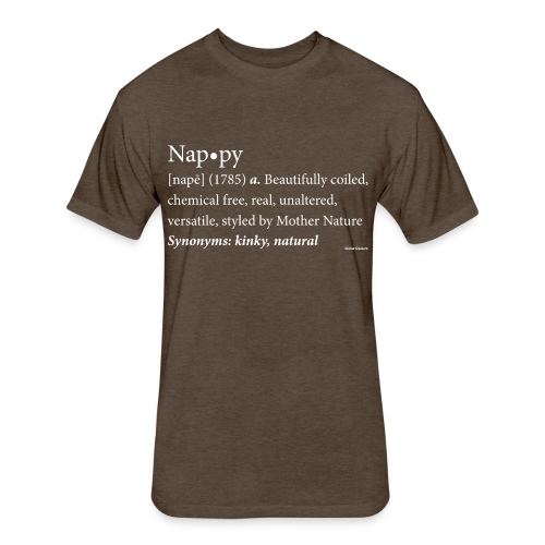 Nappy Dictionary_Global Couture Women's T-Shirts - Fitted Cotton/Poly T-Shirt by Next Level