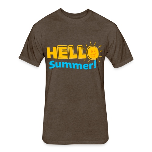 Kreative In Kinder Hello Summer! - Fitted Cotton/Poly T-Shirt by Next Level