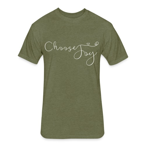 Choose Joy - Fitted Cotton/Poly T-Shirt by Next Level