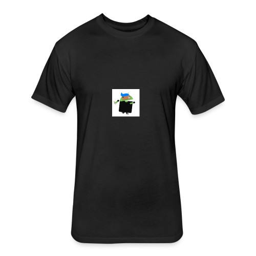 android man yo - Fitted Cotton/Poly T-Shirt by Next Level