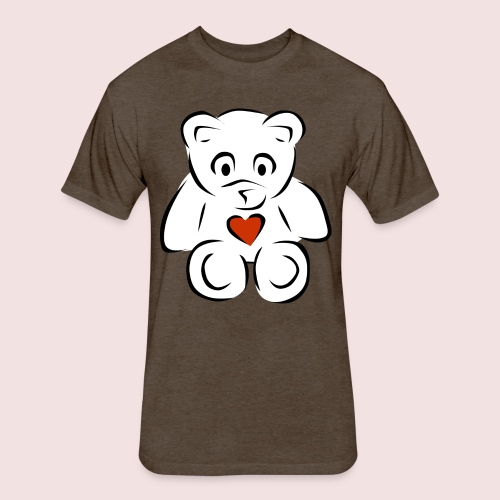 Sweethear - Fitted Cotton/Poly T-Shirt by Next Level