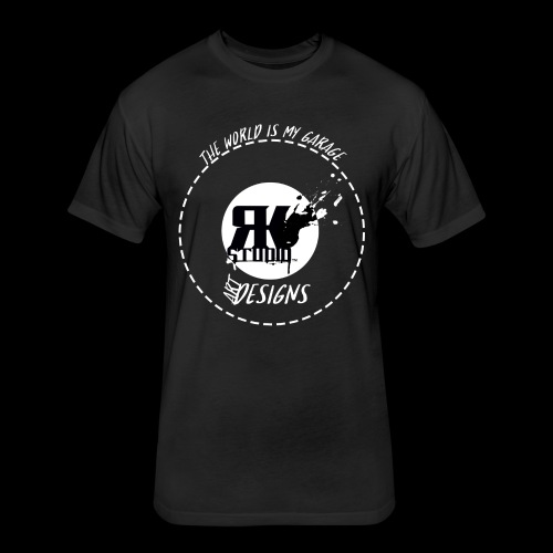 The World is My Garage - Fitted Cotton/Poly T-Shirt by Next Level
