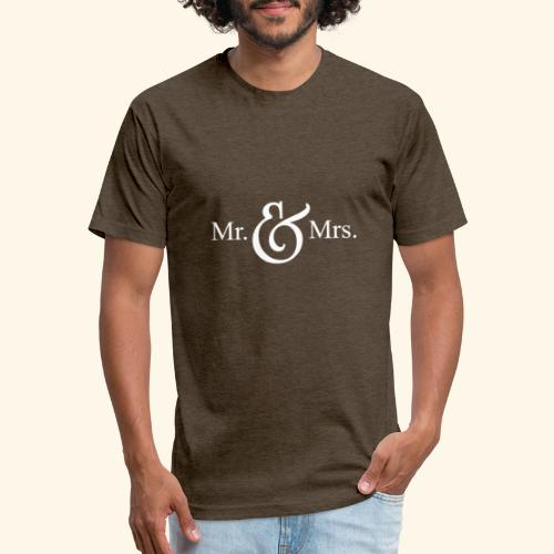 MR.& MRS . TEE SHIRT - Fitted Cotton/Poly T-Shirt by Next Level