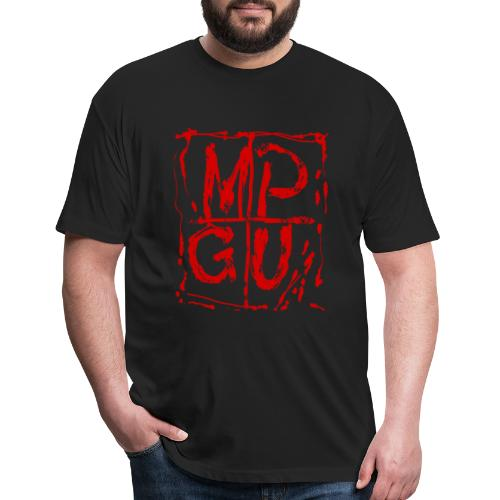 MPGU RED STROKE - Fitted Cotton/Poly T-Shirt by Next Level