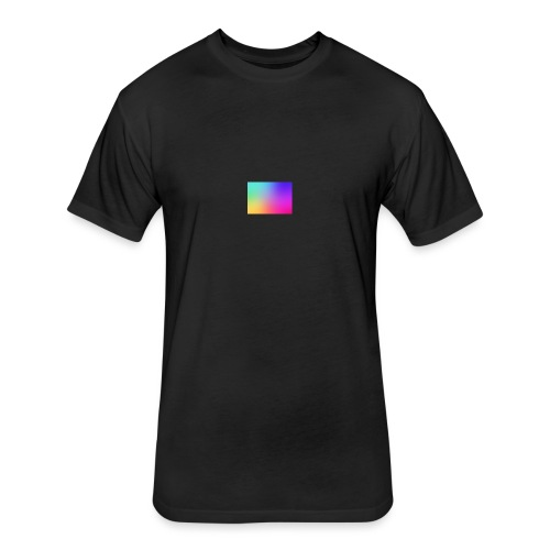 GRADIENT - Fitted Cotton/Poly T-Shirt by Next Level