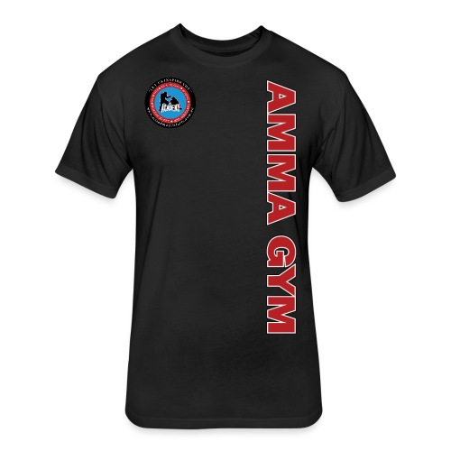 amma gym 10 png - Fitted Cotton/Poly T-Shirt by Next Level