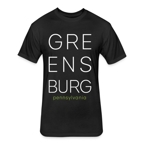 Greensburg Black Tee - Fitted Cotton/Poly T-Shirt by Next Level