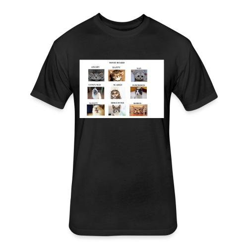 MOOD BOARD - Fitted Cotton/Poly T-Shirt by Next Level