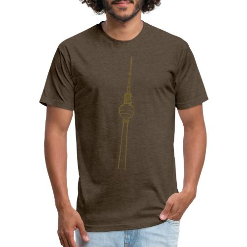 Berlin TV Tower - Fitted Cotton/Poly T-Shirt by Next Level