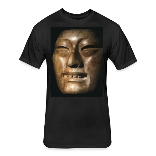 Mask of Olmec Asiatic - Fitted Cotton/Poly T-Shirt by Next Level