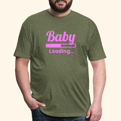 Pink Baby Loading - Fitted Cotton/Poly T-Shirt by Next Level