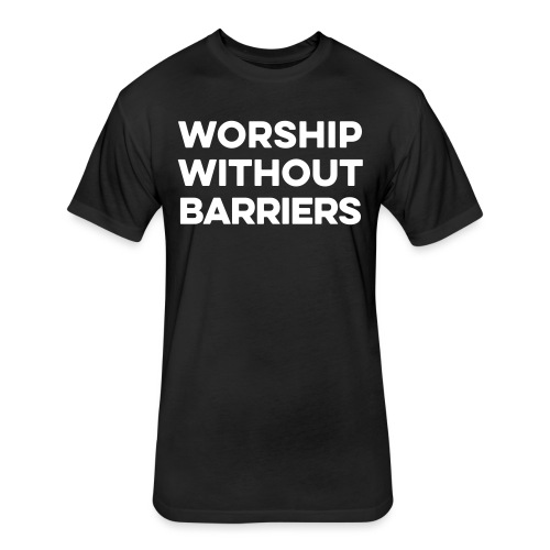worship shirt front - Fitted Cotton/Poly T-Shirt by Next Level