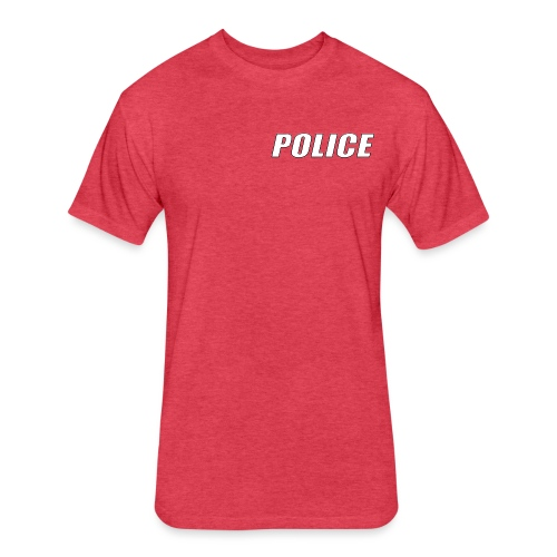 Police White - Fitted Cotton/Poly T-Shirt by Next Level