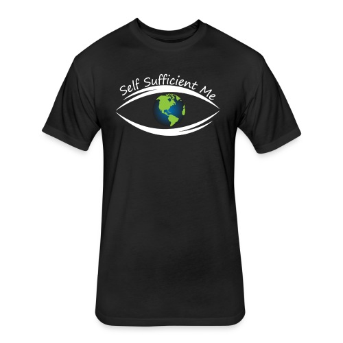Self Sufficient Me Logo Large - Fitted Cotton/Poly T-Shirt by Next Level