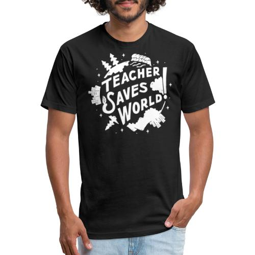 TSW! Retro World Design: Special White Edition - Fitted Cotton/Poly T-Shirt by Next Level