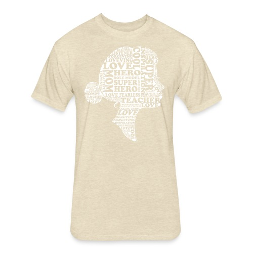 Mother Definition, Teacher Mom, Great Teacher Mom - Fitted Cotton/Poly T-Shirt by Next Level