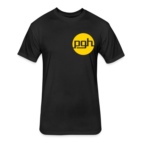 pgh_circle - Fitted Cotton/Poly T-Shirt by Next Level