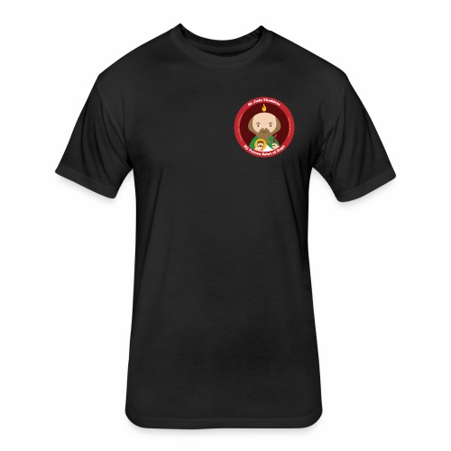St. Jude Logo - English - Fitted Cotton/Poly T-Shirt by Next Level