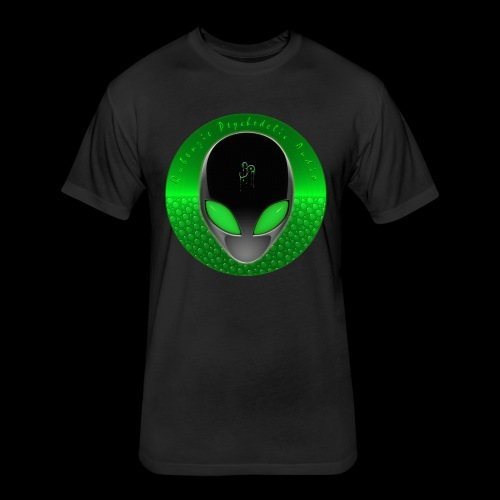 Psychedelic Alien Dolphin Green Cetacean Inspired - Fitted Cotton/Poly T-Shirt by Next Level