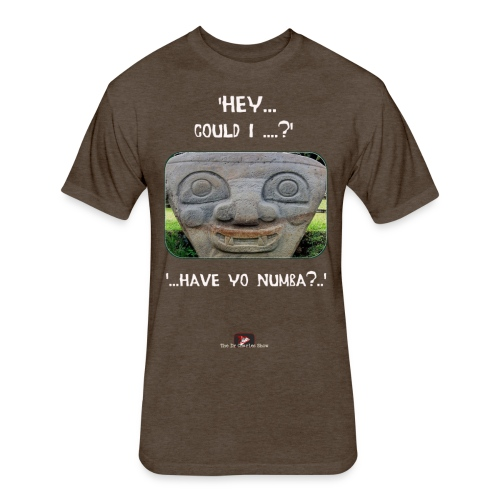 The Hey Could I have Yo Number Alien - Fitted Cotton/Poly T-Shirt by Next Level