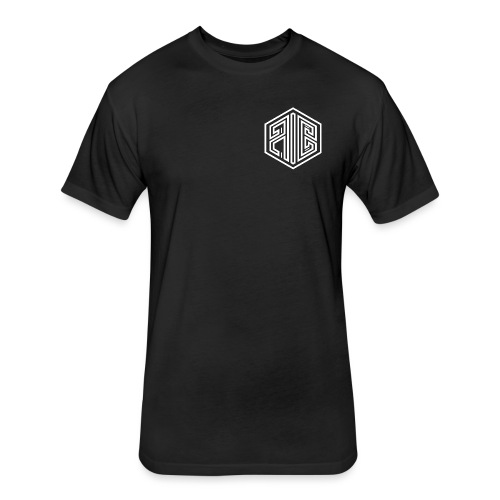Blackout // WHITE Brand Logo > BLACK - Fitted Cotton/Poly T-Shirt by Next Level