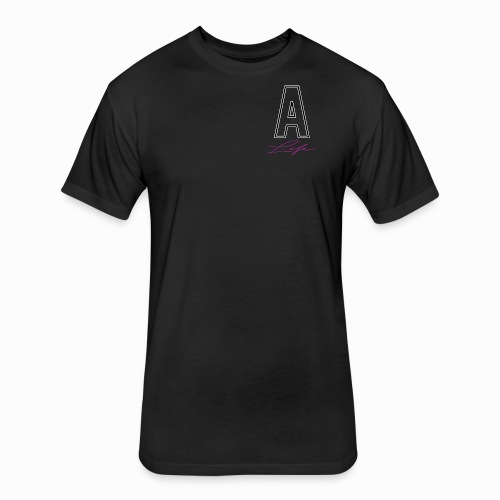 a life LOGO png - Fitted Cotton/Poly T-Shirt by Next Level