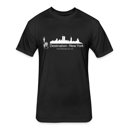 destination white - Fitted Cotton/Poly T-Shirt by Next Level
