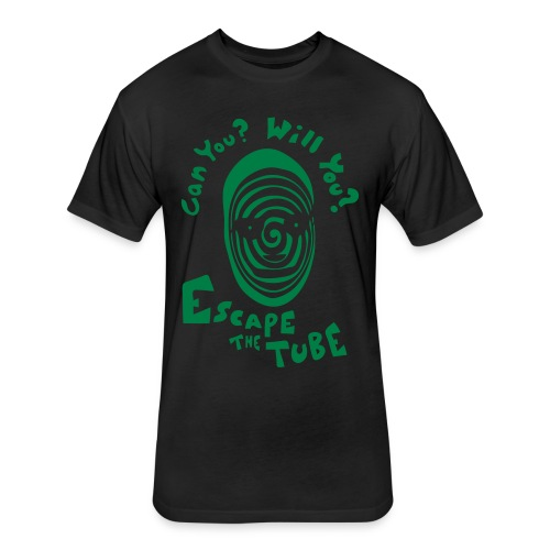 Escape The Tube - Fitted Cotton/Poly T-Shirt by Next Level