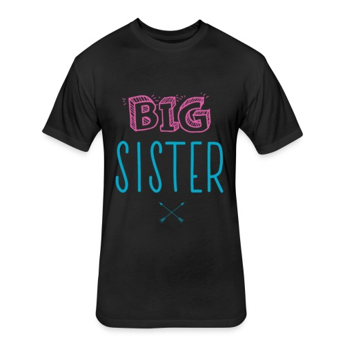 Big Sister Announcement Little - Fitted Cotton/Poly T-Shirt by Next Level