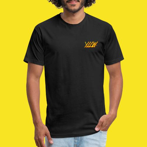 YLLW - Fitted Cotton/Poly T-Shirt by Next Level