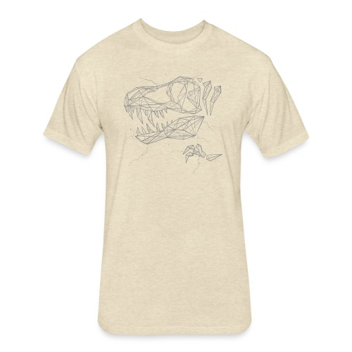 Jurassic Polygons by Beanie Draws - Fitted Cotton/Poly T-Shirt by Next Level