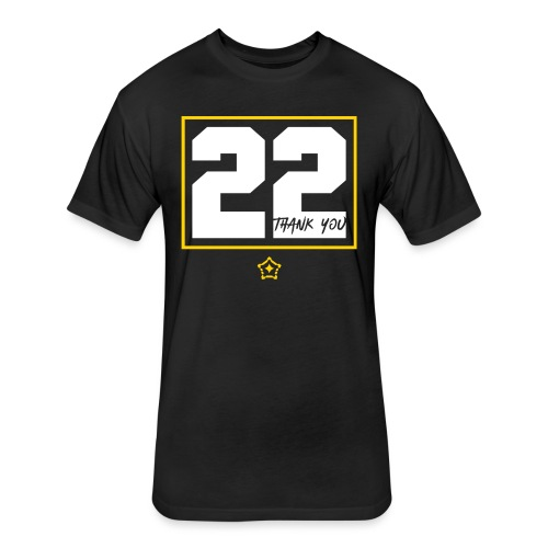 22v - Fitted Cotton/Poly T-Shirt by Next Level
