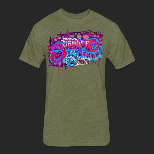Sneakers Graffiti Design - Fitted Cotton/Poly T-Shirt by Next Level