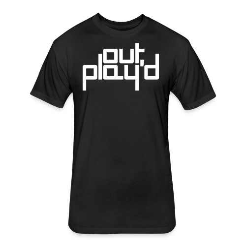 out play'd vanilla tee - Fitted Cotton/Poly T-Shirt by Next Level