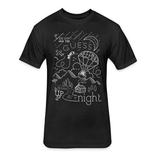 Up at Night Design - Fitted Cotton/Poly T-Shirt by Next Level