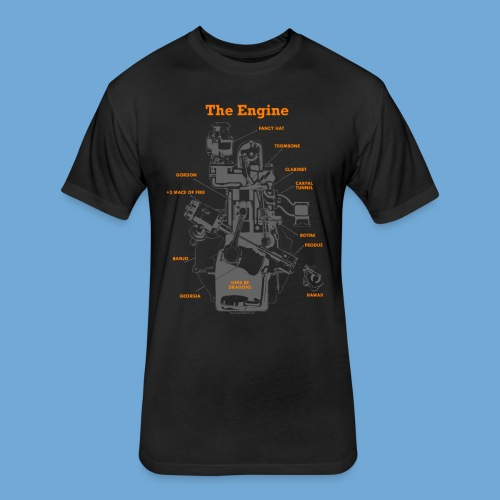 Engine Diagram - Fitted Cotton/Poly T-Shirt by Next Level