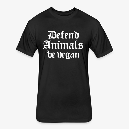 Defend Animals - Fitted Cotton/Poly T-Shirt by Next Level