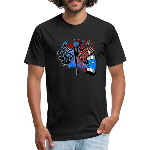 Graffitied Angel - Fitted Cotton/Poly T-Shirt by Next Level