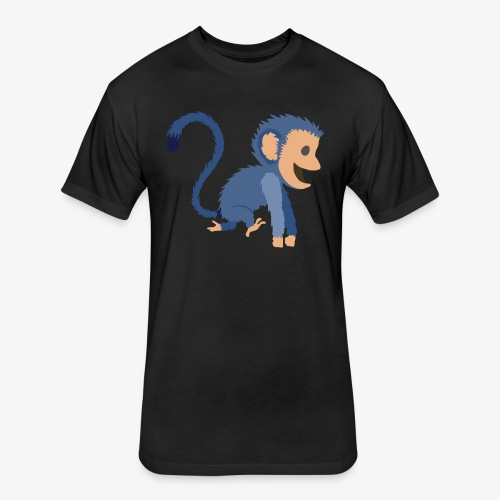Monkey - Fitted Cotton/Poly T-Shirt by Next Level