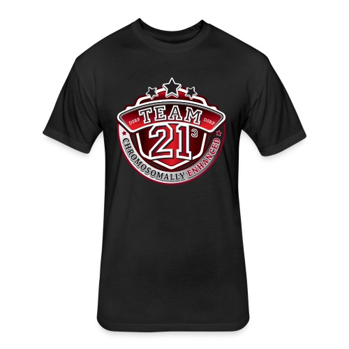 Team 21 - Chromosomally Enhanced (Red) - Fitted Cotton/Poly T-Shirt by Next Level