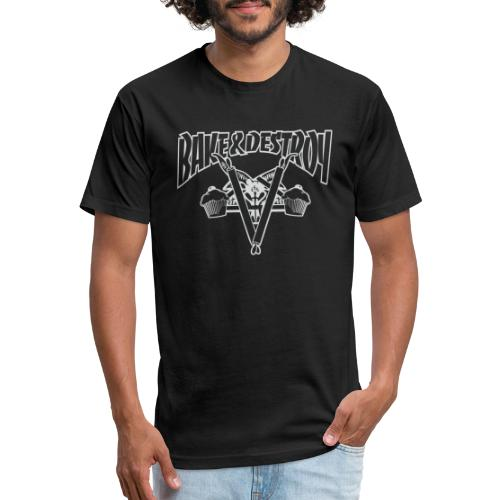 Goat and Destroy - Fitted Cotton/Poly T-Shirt by Next Level