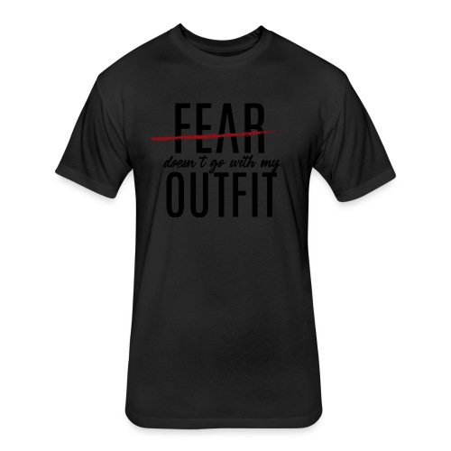 Exclusive Blackout Shirt-R (Black Friday Special) - Fitted Cotton/Poly T-Shirt by Next Level